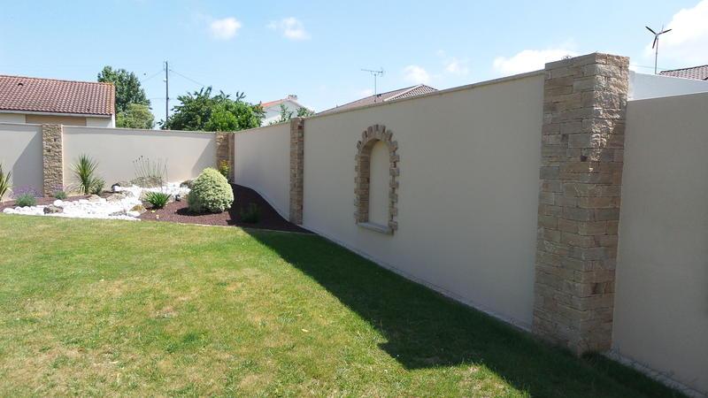 Emma nature paysagiste ma onnerie paysag re la - Habillage mur exterieur en pierre ...